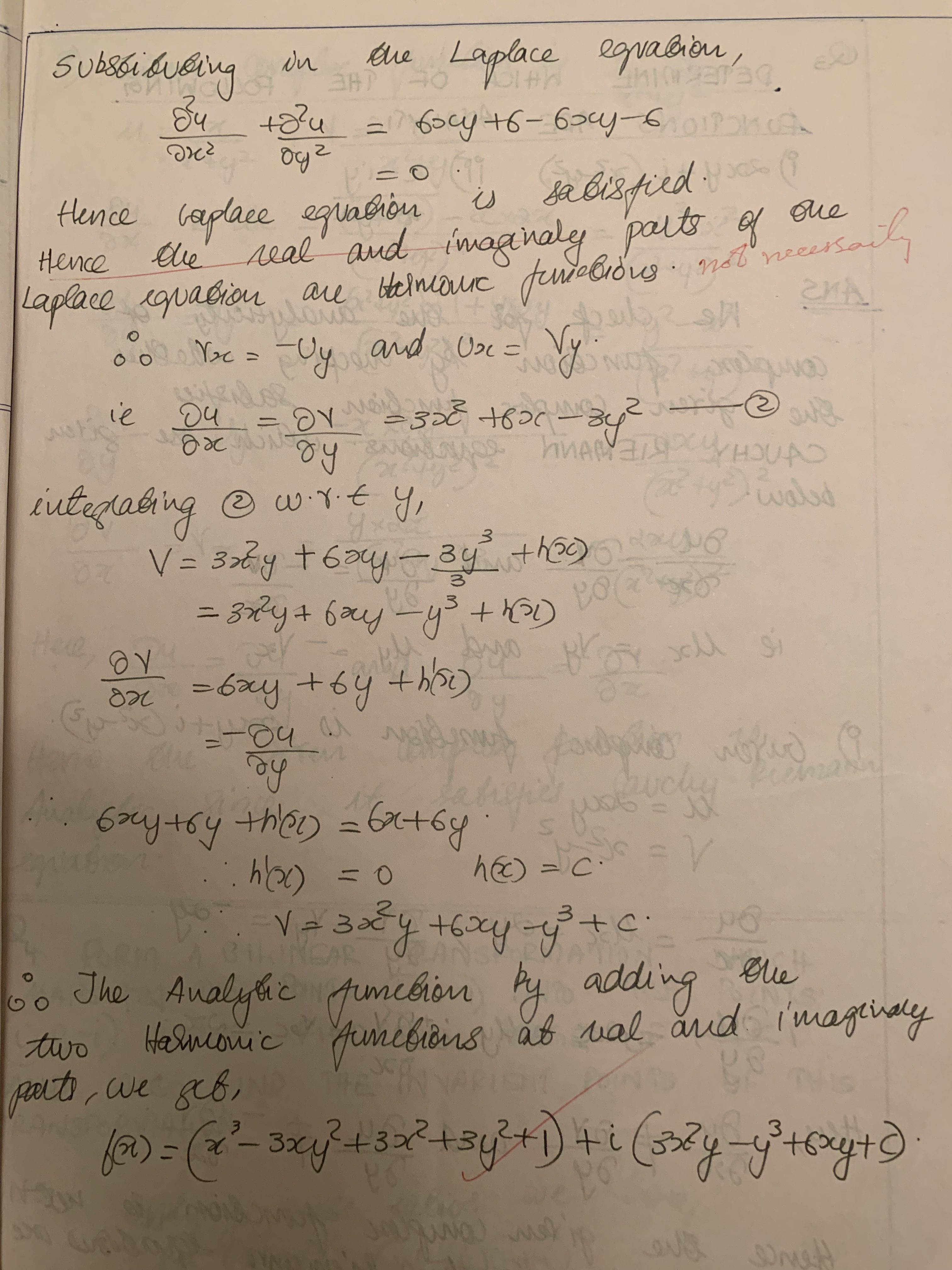Checking a function for Laplace Equation