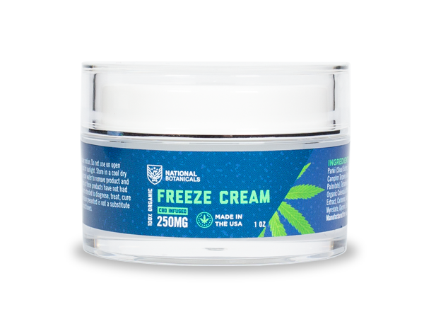 CBD Freeze Cream 250MG CBD Infused from National Botanicals