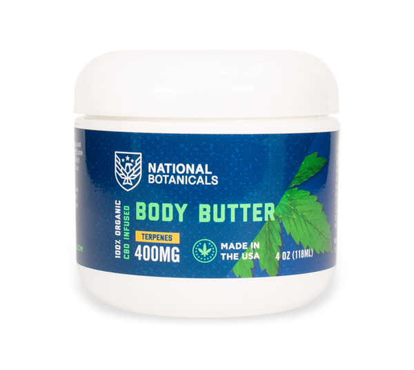 CBD Body Butter 400MG CBD Infused from National Botanicals