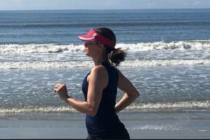 Anne Peled, M.D. Exercising Running on San Francisco Breach