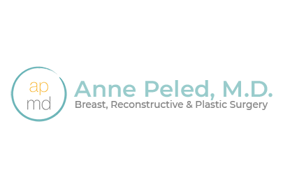APMD in middle of circle with Anne Peled, MD typed out next to it with Breast, Reconstructive & Plastic Surgery written under it