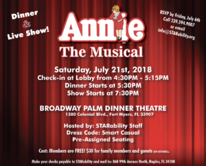 Annie the Musical @ Broadway Palm Dinner Theater