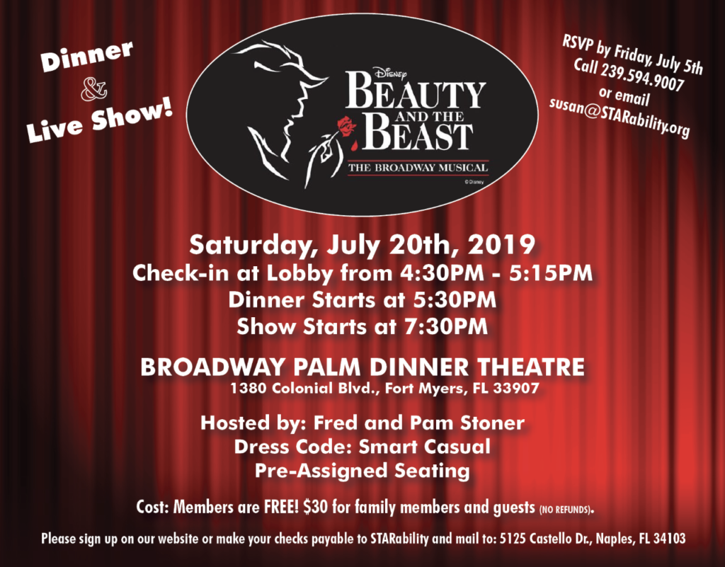Beauty and the Beast 2019 @ Broadway Palm Dinner Theater