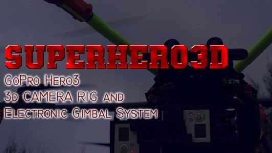 Superhero 3D rig system for gopro ad v3 545