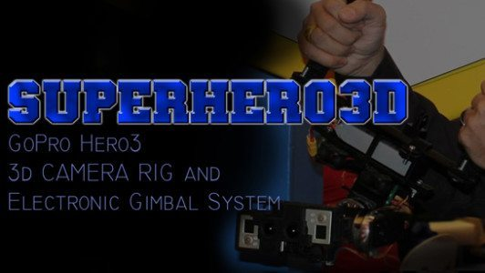 Superhero 3D rig system for gopro ad v4 545
