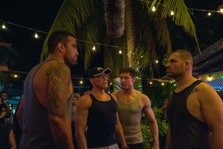Jean Claude Van Damme with CoStar Alain Moussi and UFC stars Fabricio Werdum and Cain Velasquez