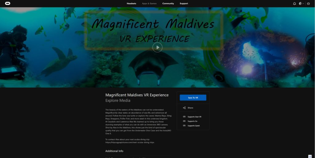 Magnificent Maldives VR Experience