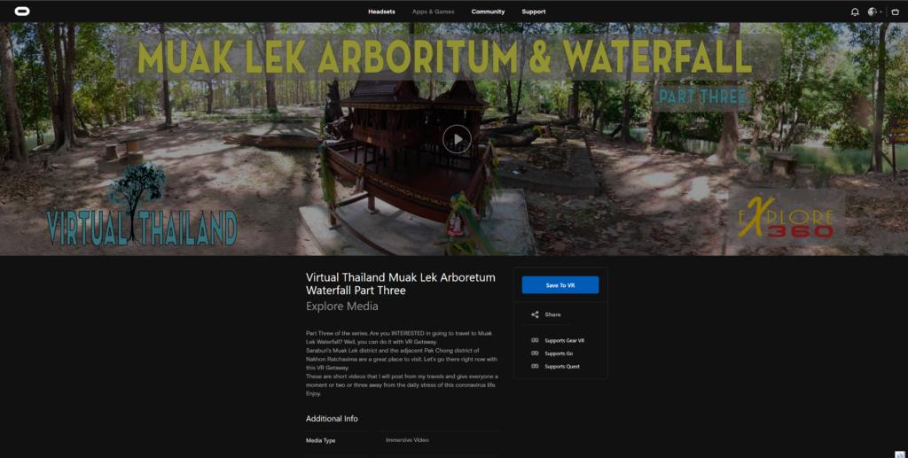 Virtual Thailand Muak Lek Arboretum Waterfall Part Three