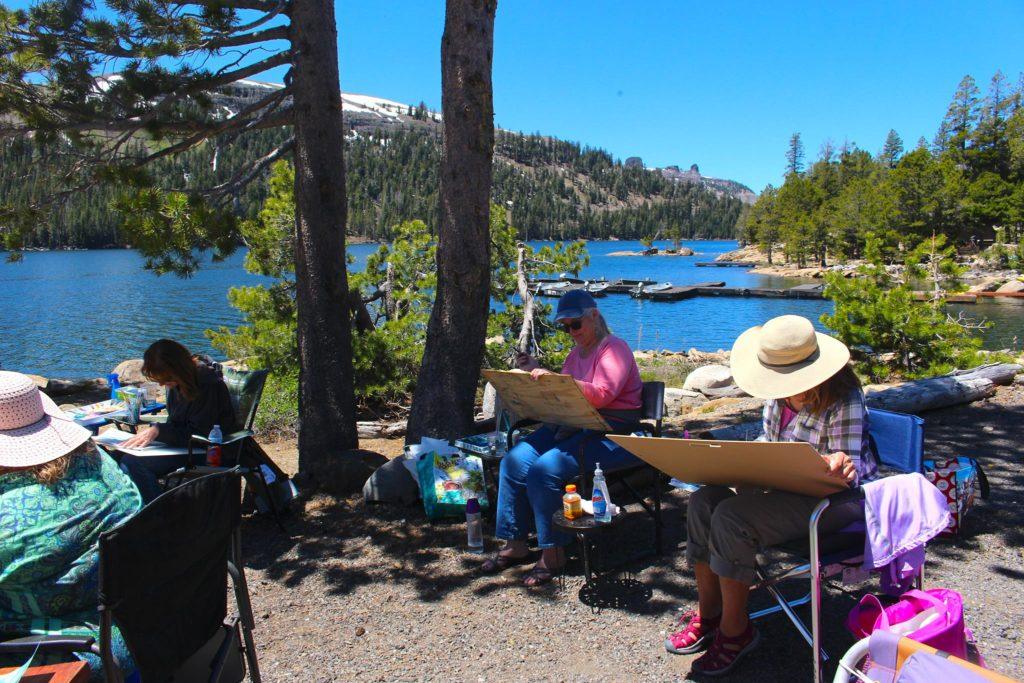 Students at Caples Lake