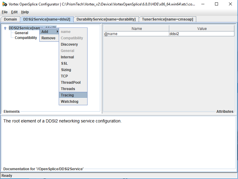 Setting ddsi2 tracing with the osplconf tool