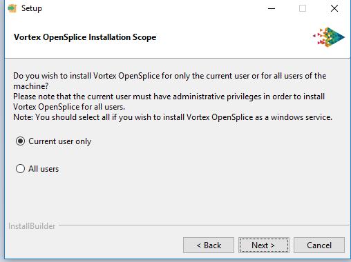 Vortex OpenSplice installer