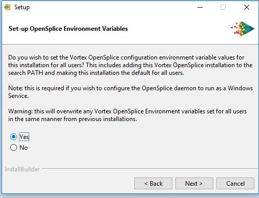 OpenSplice installer