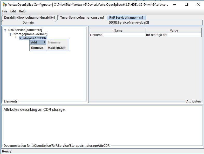 Adding max file size into RnR