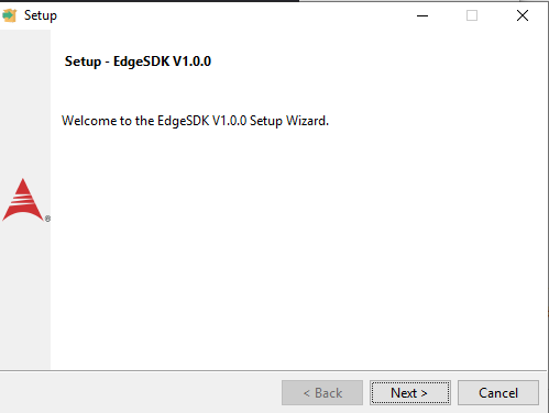 Edge SDK installation wizard