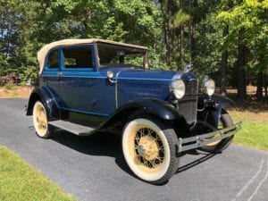 1931 Ford 400A Convertible Sedan  $45,900