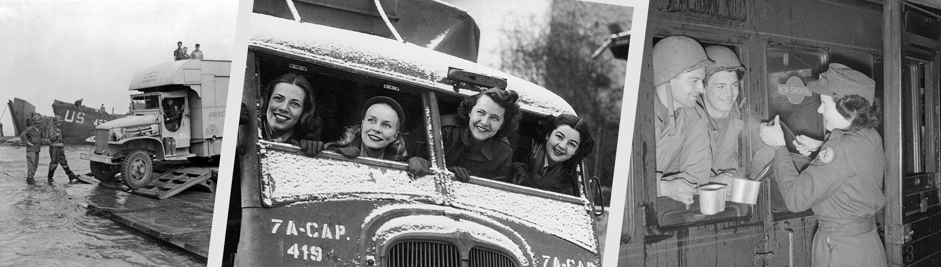 Red Cross Clubmobile During WWII