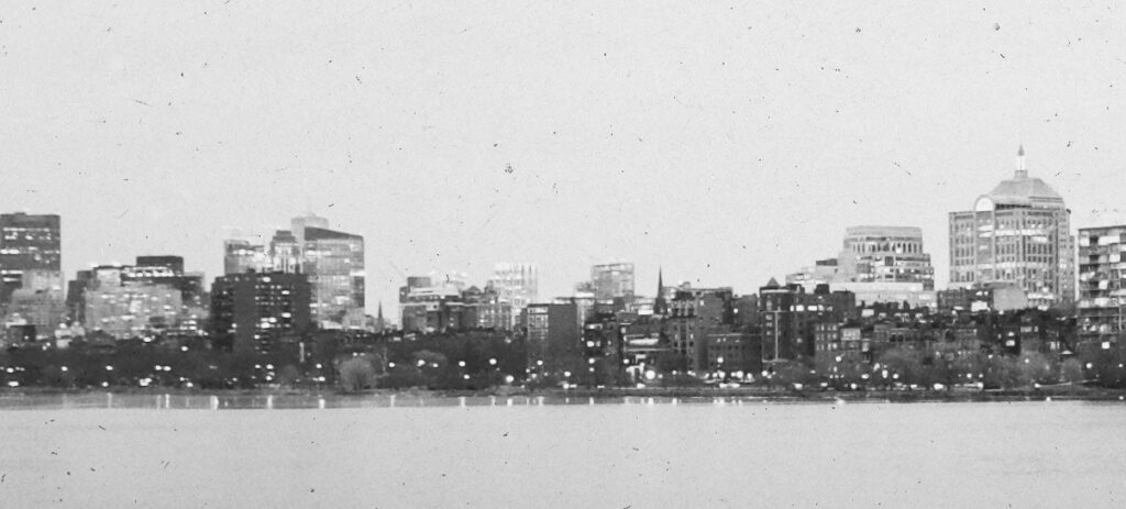 Boston Harbor Skyline View