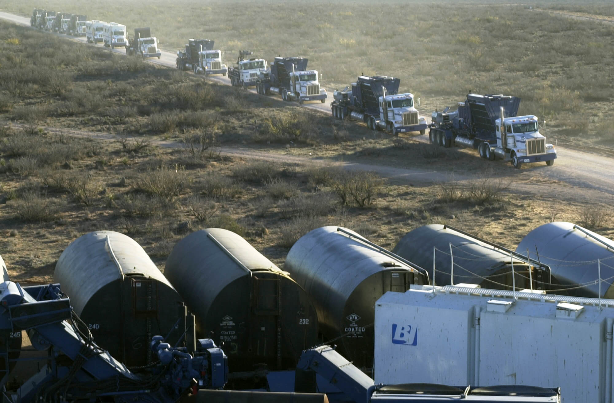 Frac Trucks Staged and Ready