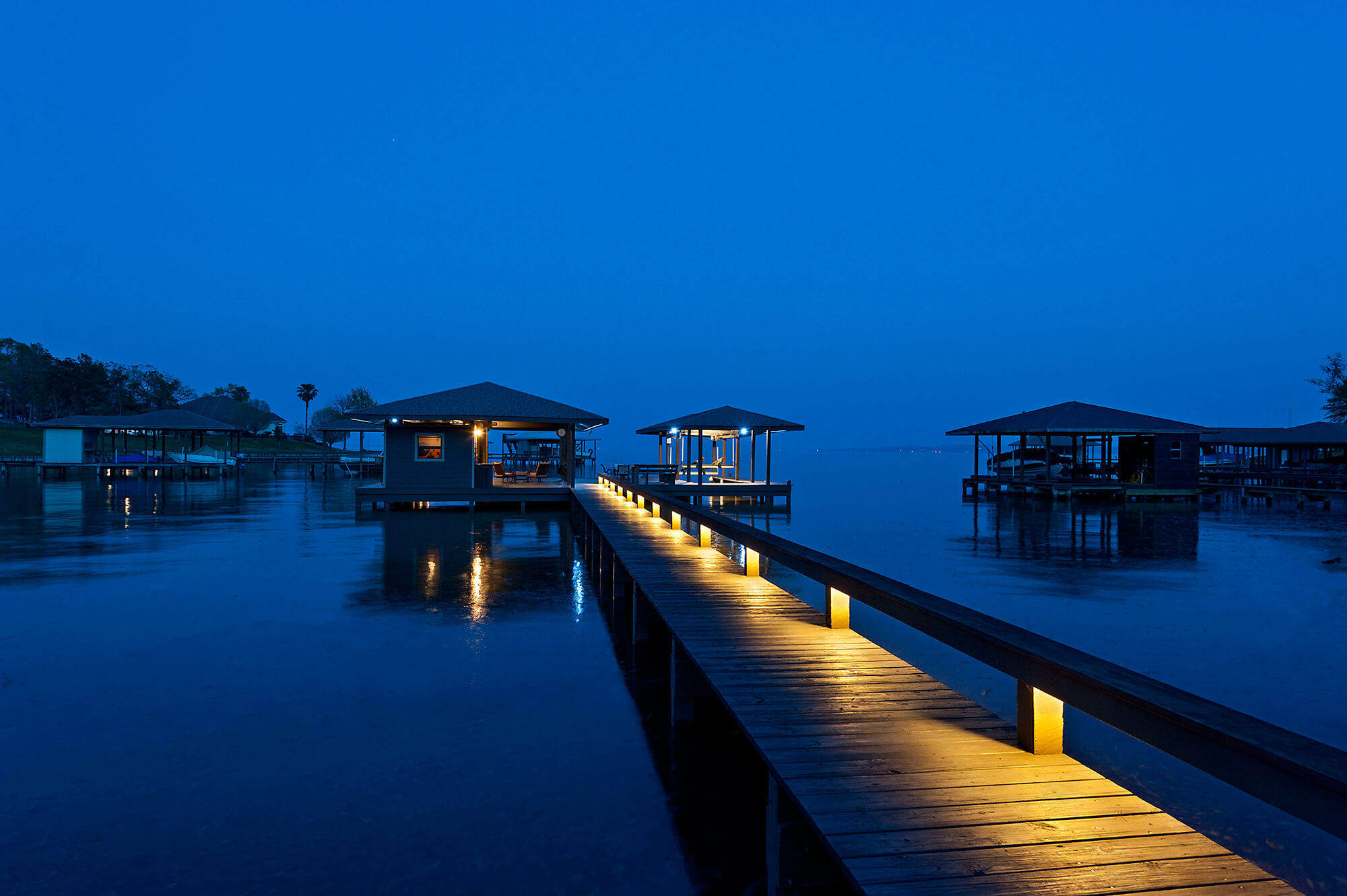 Private Dock at Dusk