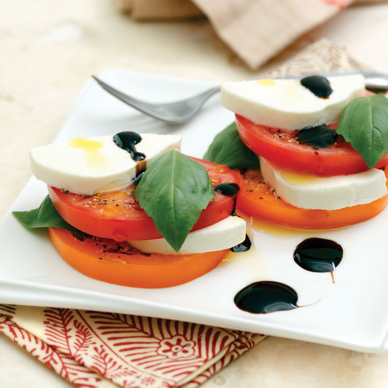 Perfect Portion Caprese Salad Stacks