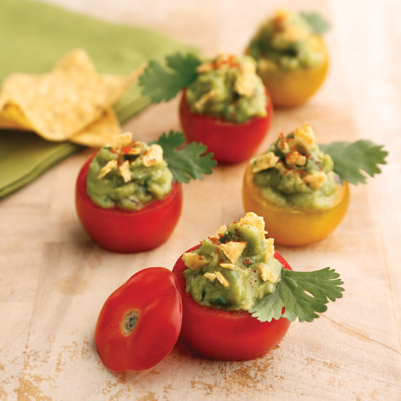 Perfect Portion Guacamole-Stuffed Cherry Tomatoes