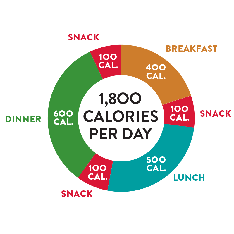 Perfect Portion 1,800 calorie day