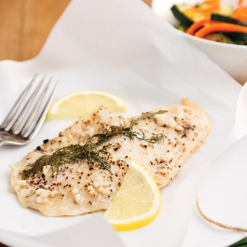 Perfect Portion Baked Fish Packets with Dill
