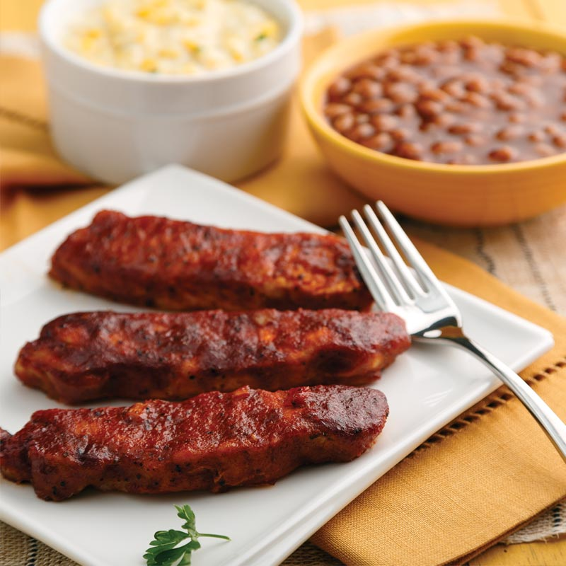 Perfect Portion Boneless BBQ Ribs