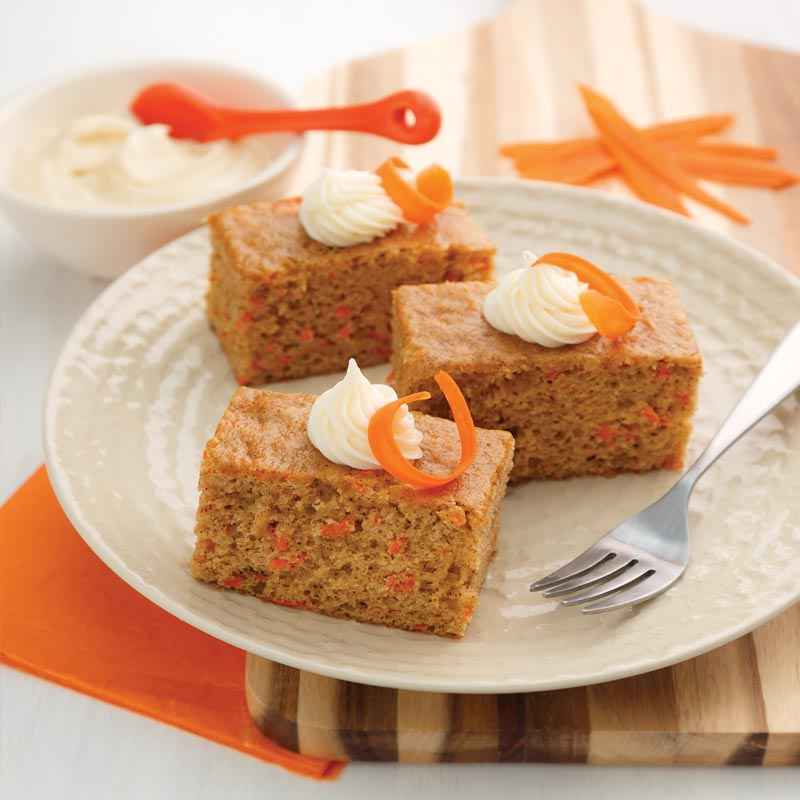 Perfect Portion Carrot Cake Bars