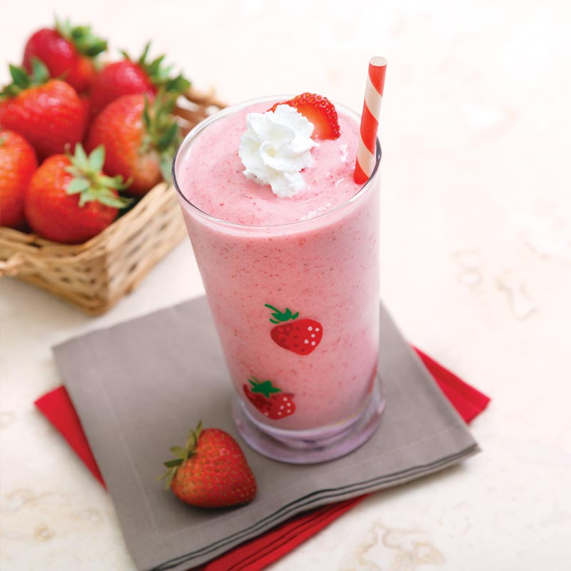 Perfect Portion Skinny Strawberry Milkshake