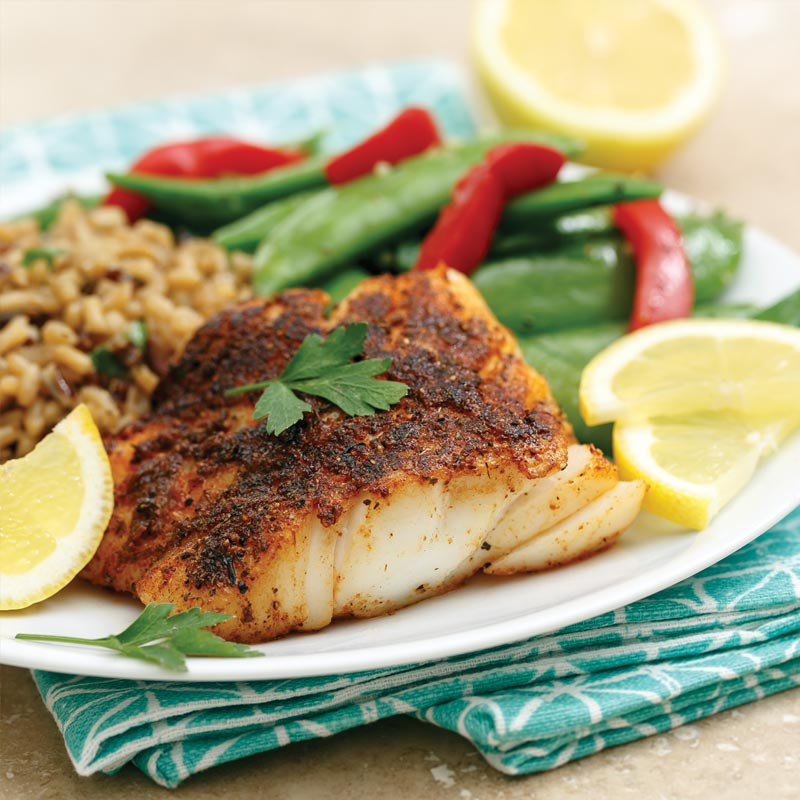 Perfect Portion Blackened Cod