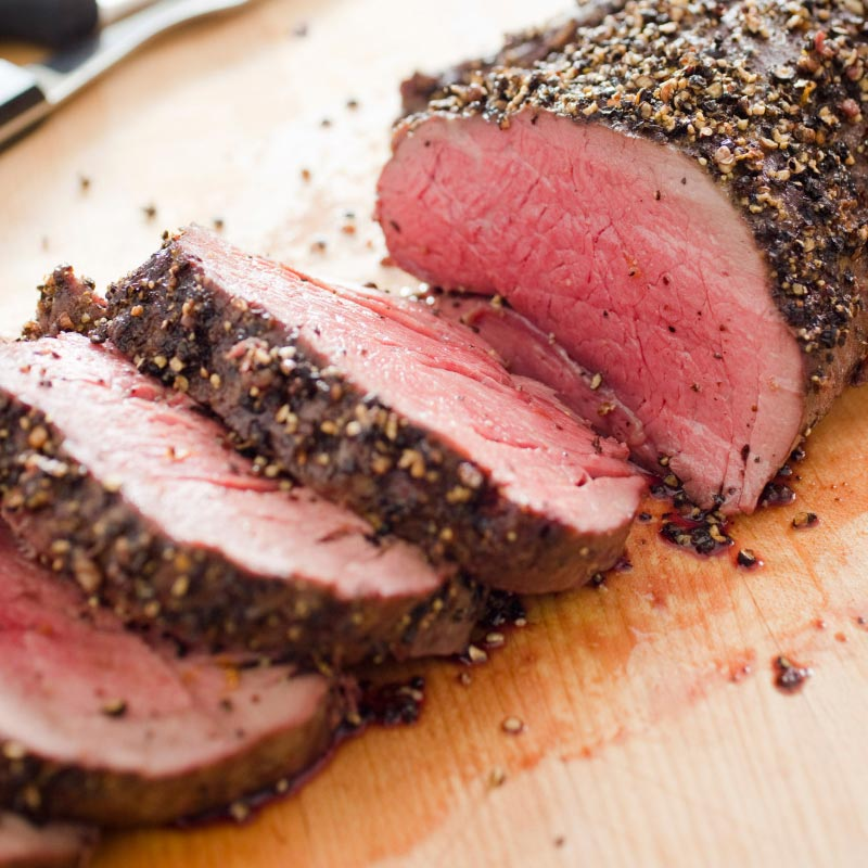 Perfect Portion Rosemary Roasted Beef Tenderloin