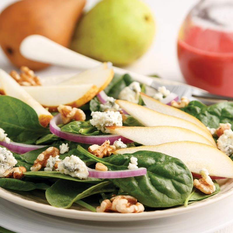 Perfect Portion Spinach & Pear Salad