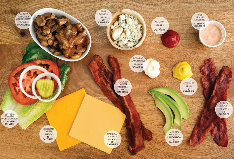Perfect Portion Build Your Own Burger Toppings