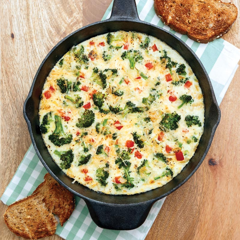 Perfect Portion Egg White & Broccoli Frittata