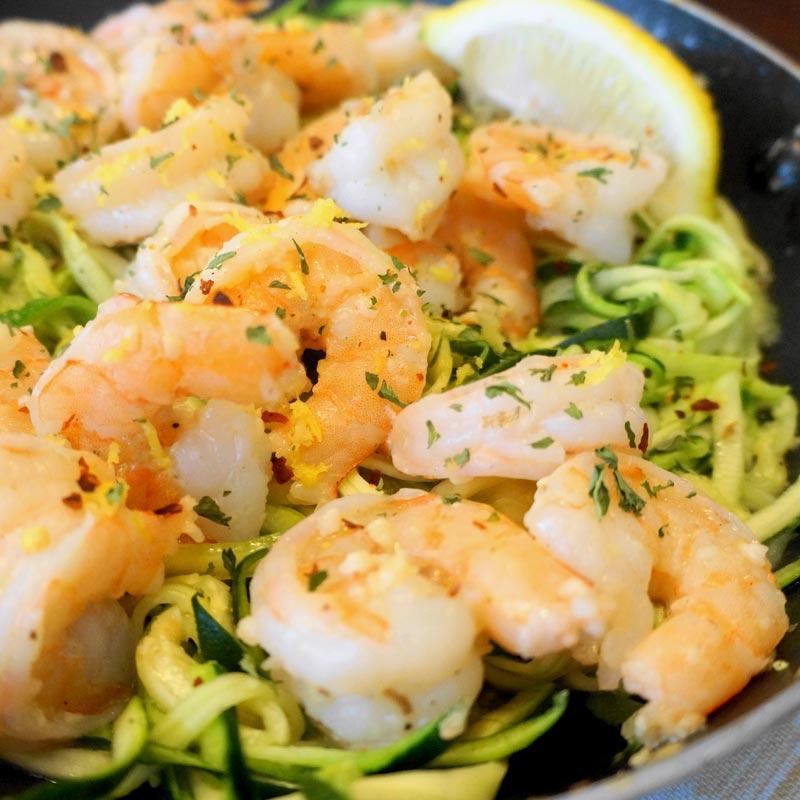 Perfect Portion Shrimp Scampi