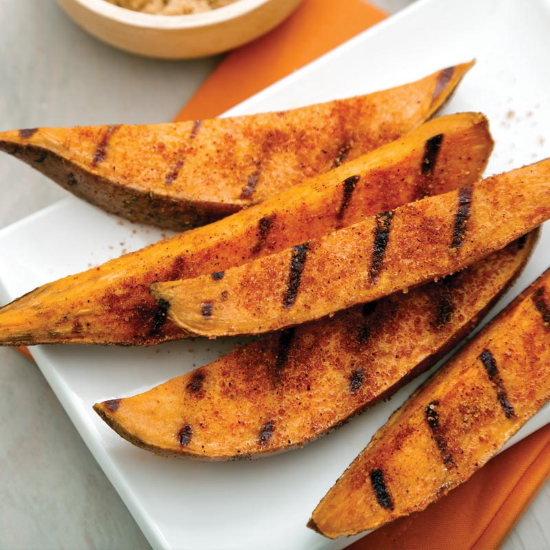 Perfect Portion Grilled Sweet Potato Wedges