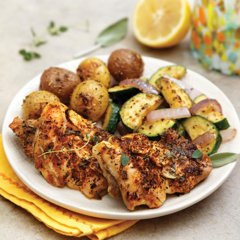 Perfect Portion Lemon & Herb Roasted Chicken