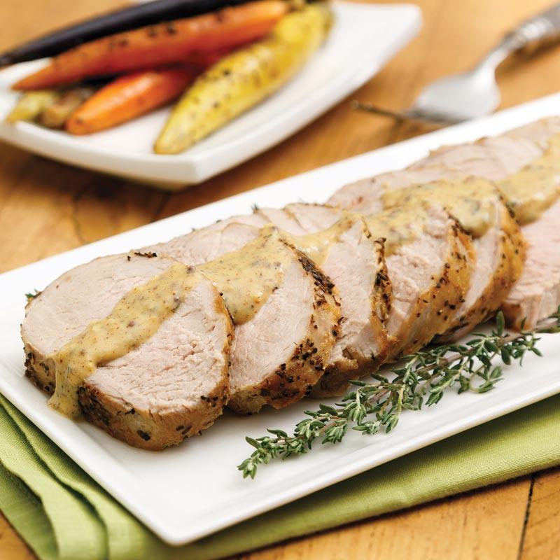 Pork Tenderloin with Dijon Gravy