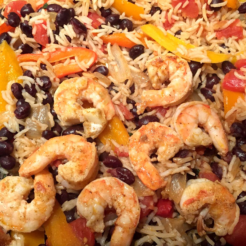 Perfect Portion Tex Mex Shrimp and Rice Bowl
