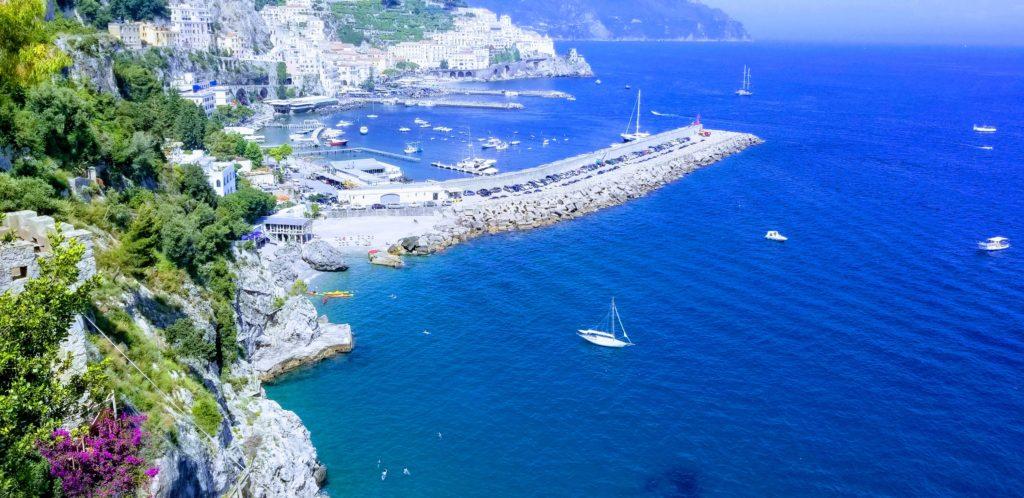 Amalfi although noted a best place to see on the coast is much more beautiful from above. It is way too touristy in town.