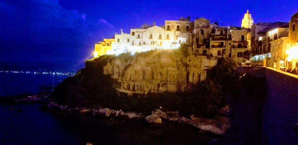 Vieste is so beautiful especially at night making it one of the top things to see and do in Apulia