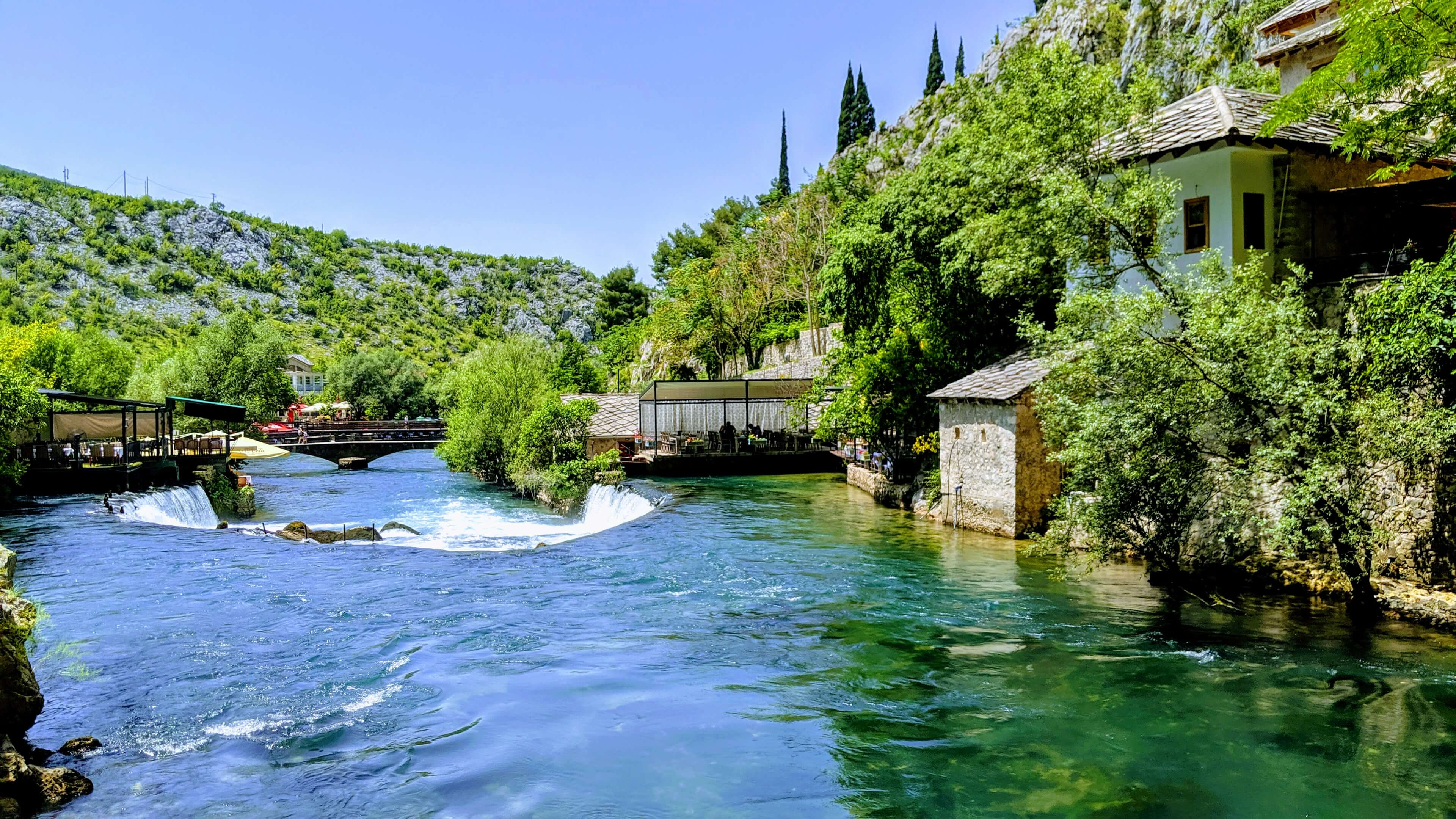 Blagaj Tekija Monastery on the Buna river is a stunning place that we urge you to visit.