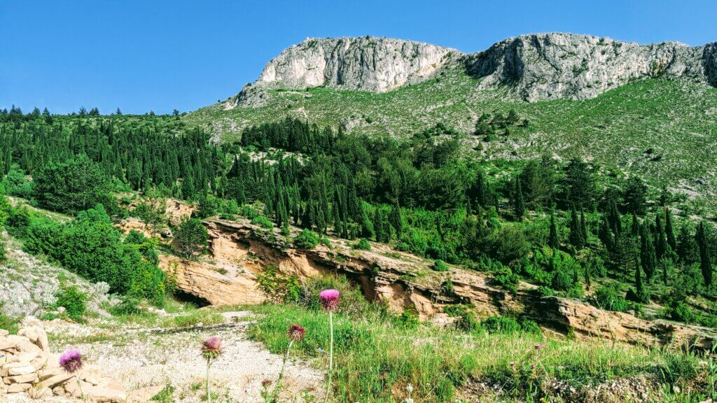 Fortica Hill above Mostar has lush verdant trails as well as great cliffs.  A great way to spend a day in Mostar.