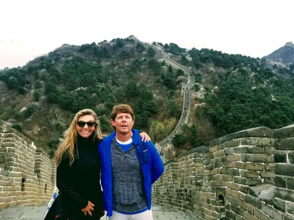 Rob and Masha at the Great Wall of China