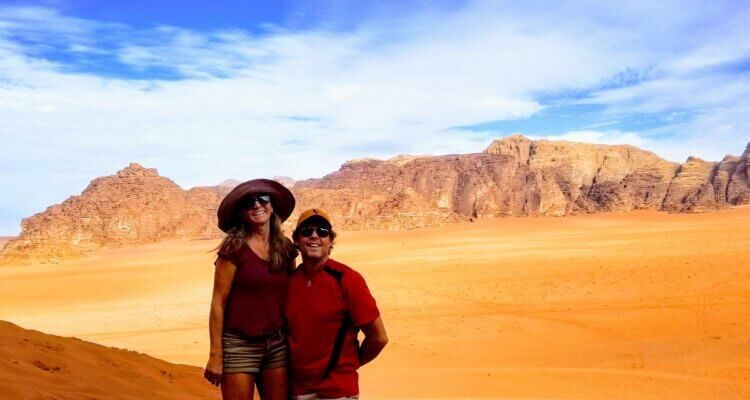 Rob and Masha at Wadi Rum