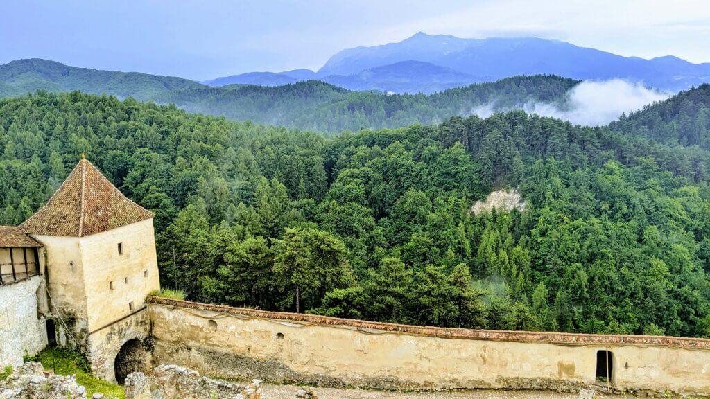 Rasnov Fortress views of mountains