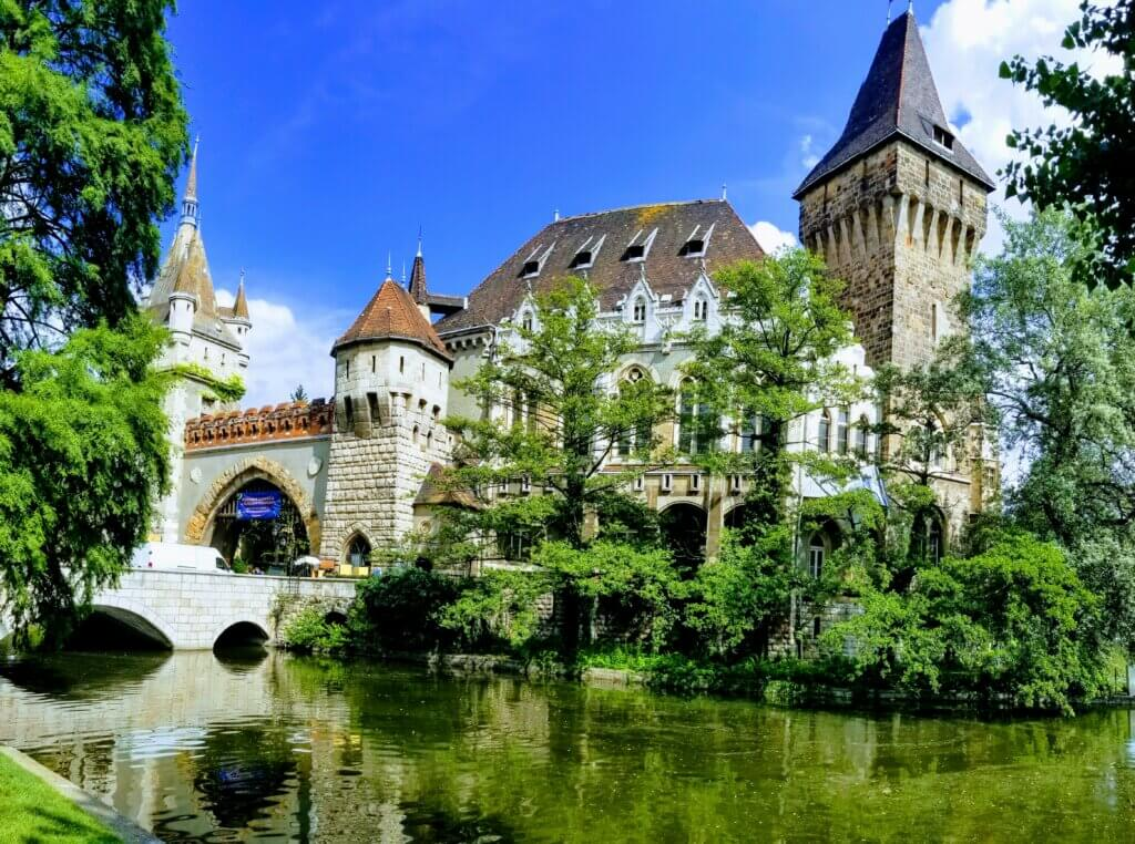 Vajdahunyad Castle in City Park is a great free and fun thing to see and do in Budapest.