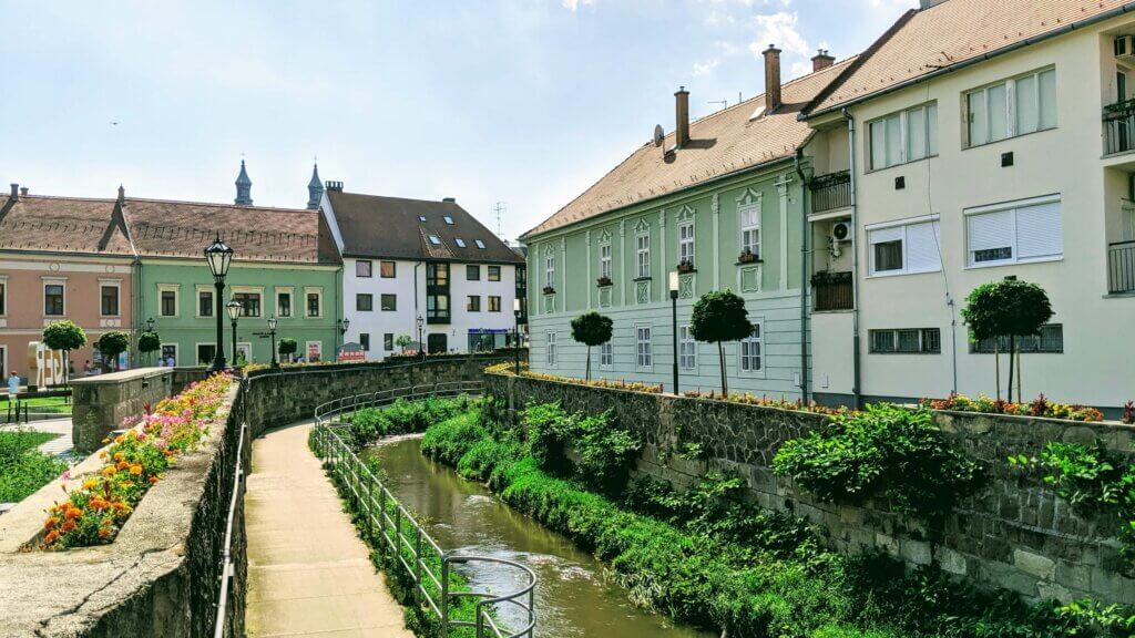Eger old town by the river