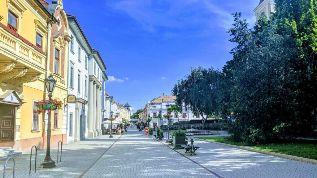 One of the walking streets in Eger - which is marvelous. Making the question, Is Eger worth a visit much easier to answer.